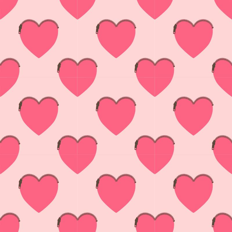 Clipart - Heartshaped purse-seamless pattern