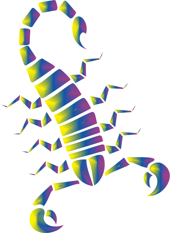 Clipart - Colorful Abstract Tribal Scorpion 9