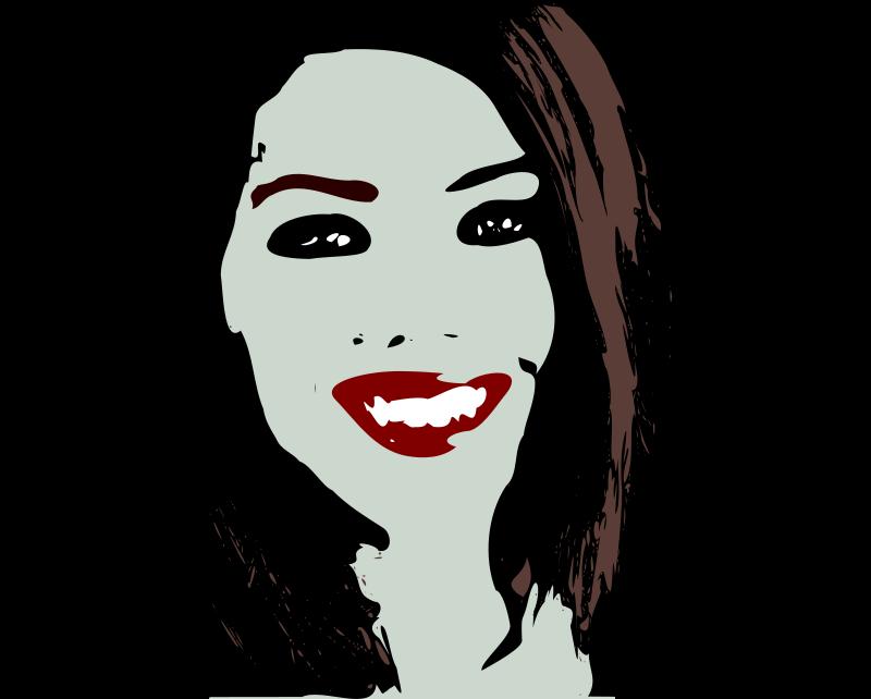 Clipart - Vampire girl