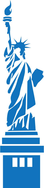 New York statue of Liberty by shokunin - Statue of Liberty - blue.