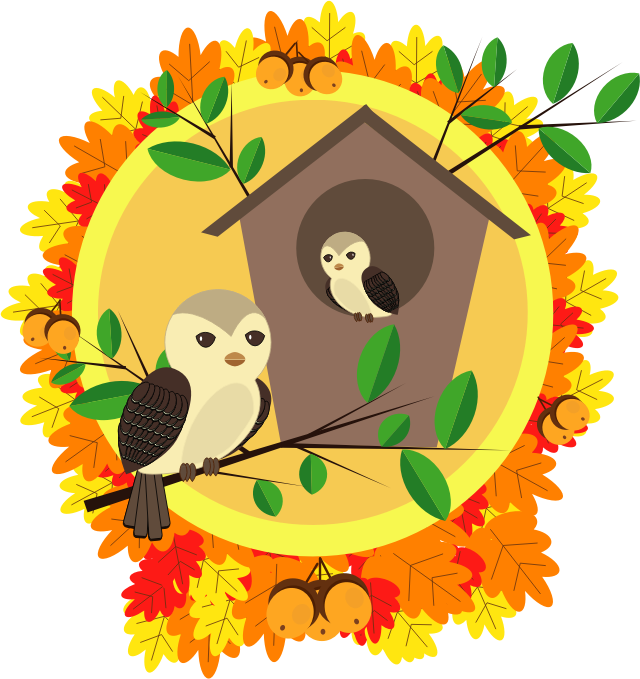 clipart happy autumn Pumpkin Owl Clip Art Harvest Owl Clip Art