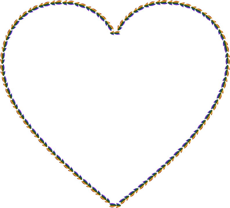 Clipart - Colorful Direction Heart Smaller