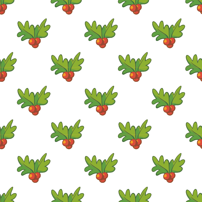 Clipart Holly Seamless Pattern