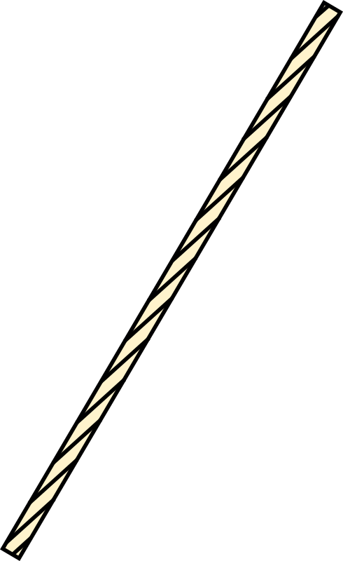 Clipart - straight stretch of rope