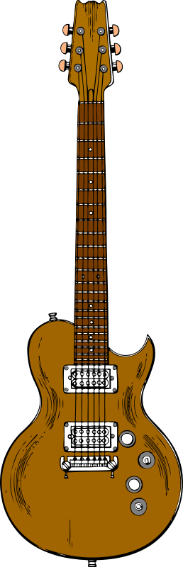 Wooden Guitar by tom - Wooden electric guitar, simple colours.