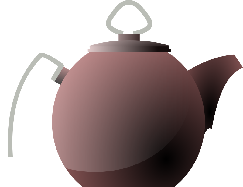 Kettle or tea pot by tom - A kettle, outline traced and colored 
