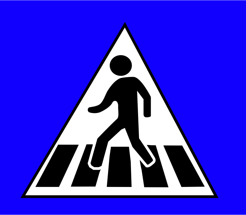 Crossing Traffic Sign by mokush - The traffic sign used for crossings in some parts of Eastern Europe.