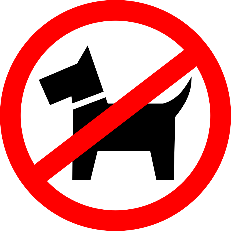 Clipart - Dog walking is prohibited