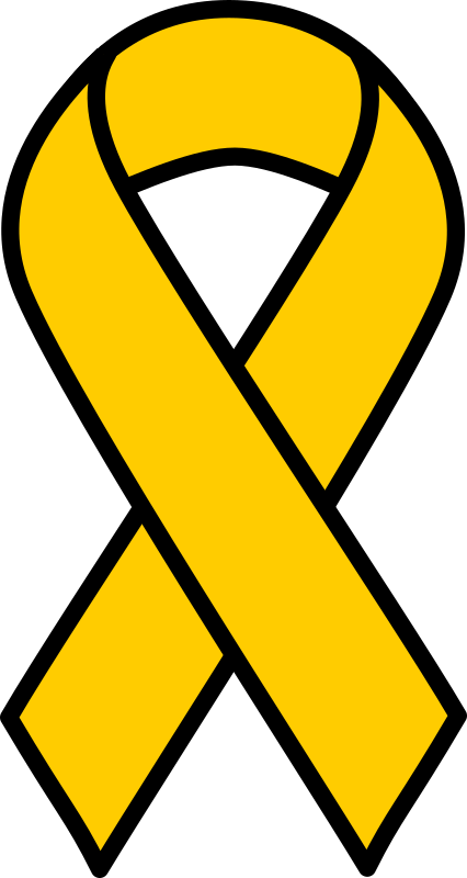 Clipart Gold Childhood Cancer Ribbon
