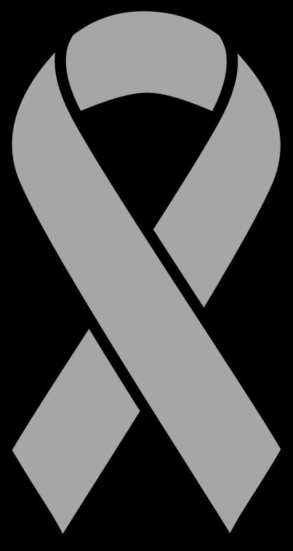 Clipart - Grey Brain Cancer Ribbon