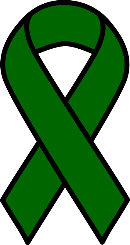 Clipart - Emerald Liver Cancer Ribbon