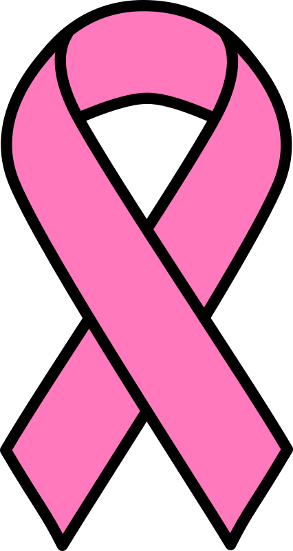 Clipart - Pink Breast Cancer Ribbon
