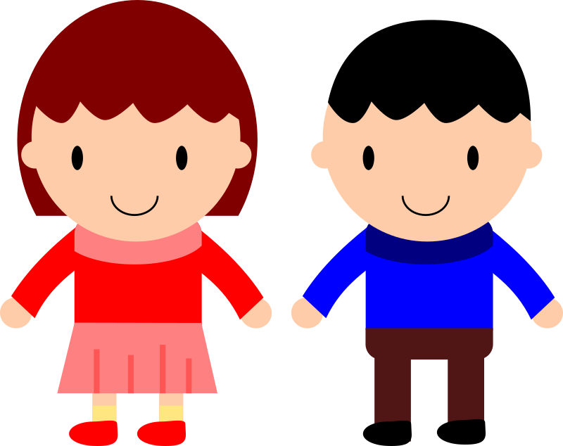 clipart girl and boy rh openclipart org baby boy & girl clipart boy girl clipart png