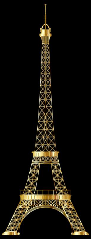 Eiffel Tower Gold