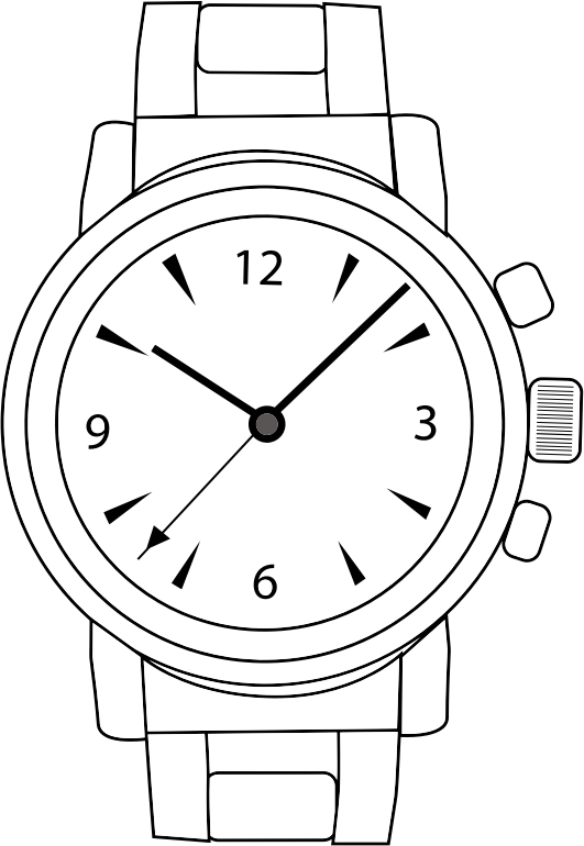 Clip Art Watch Clipart clipart wrist watch line art medium image png