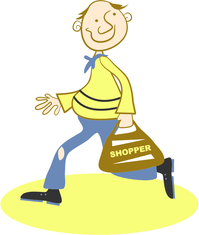 clipart happy shopper log clip art with carved out section log clip art silhouette