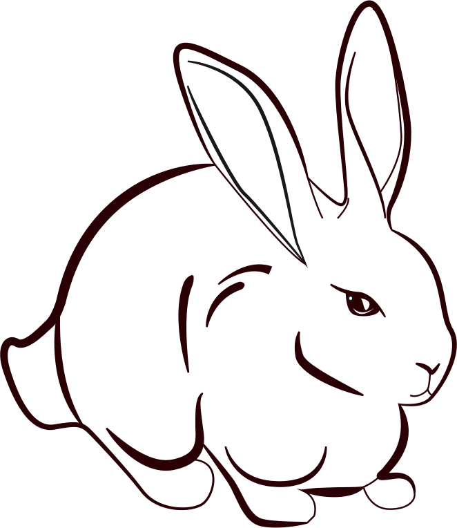 Line Drawing Bunny : Clipart rabbit line art