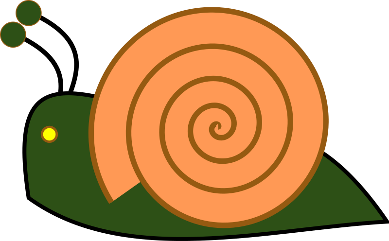 Caracol by irinuca - A green snail going to the left.