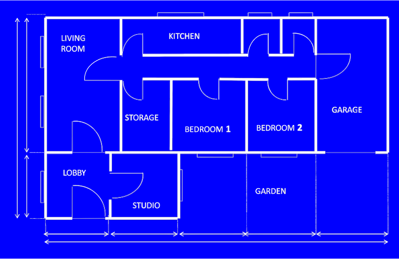 Clipart house blueprint for Blueprint number