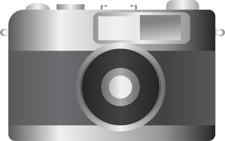 Clipart - Grayscale Camera