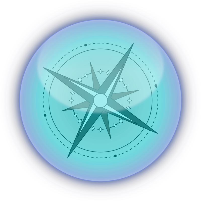 Compass by boobaloo - A blue compass glossy.