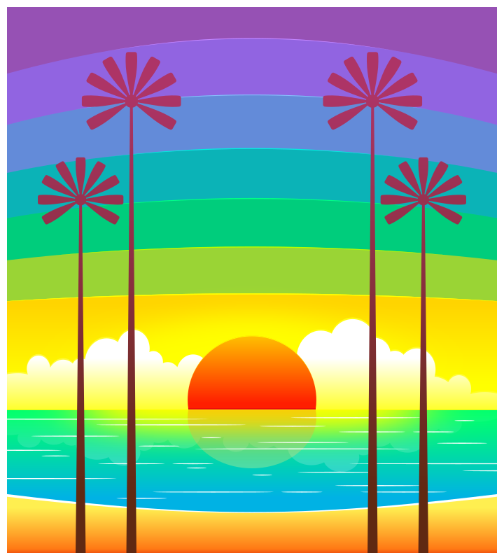 Clipart - Seaside Sunrise