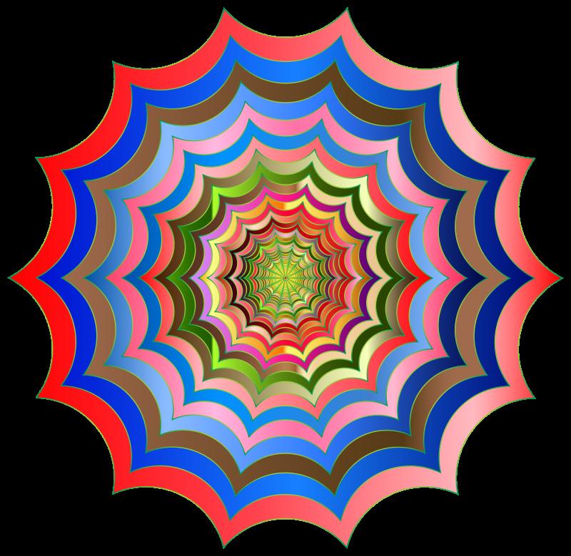 Clipart - Spider Web Hypnotic Revitalized 2
