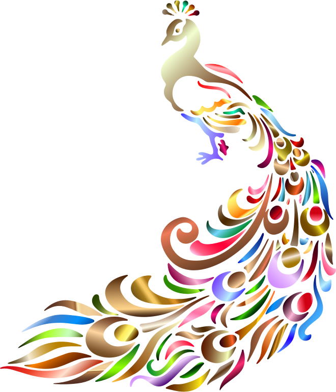 Clipart - Chromatic Peacock No Background