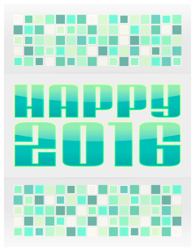 Clipart - 2016 New Year Card