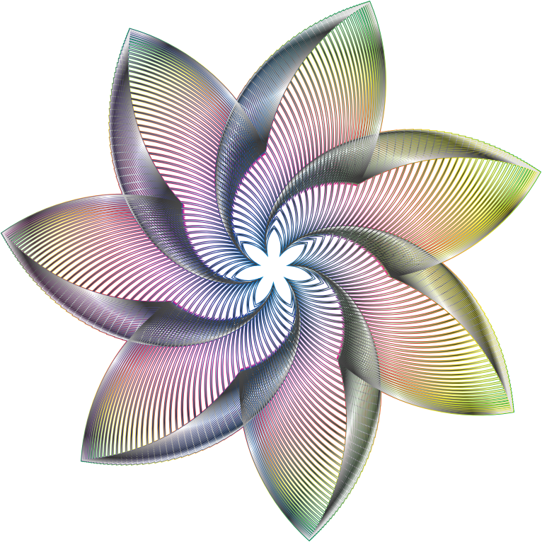 Line Art No Background : Clipart prismatic flower line art no background