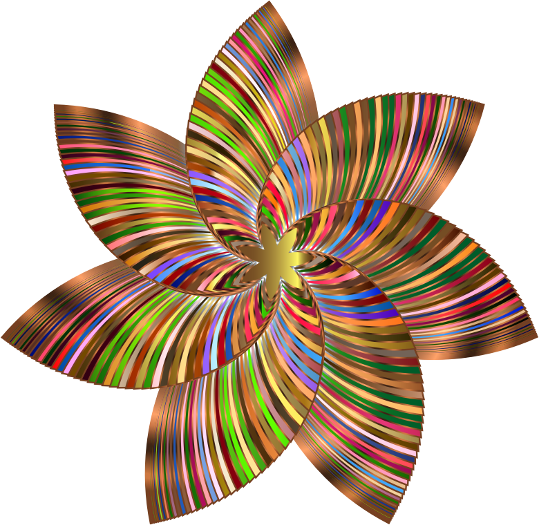Line Art Flower Design Png : Clipart colorful flower line art