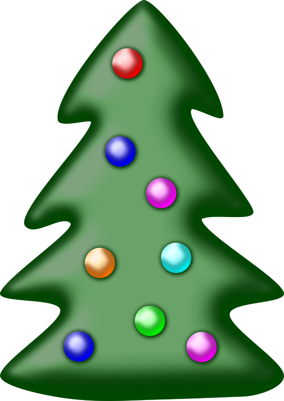 Clipart - Christmas tree