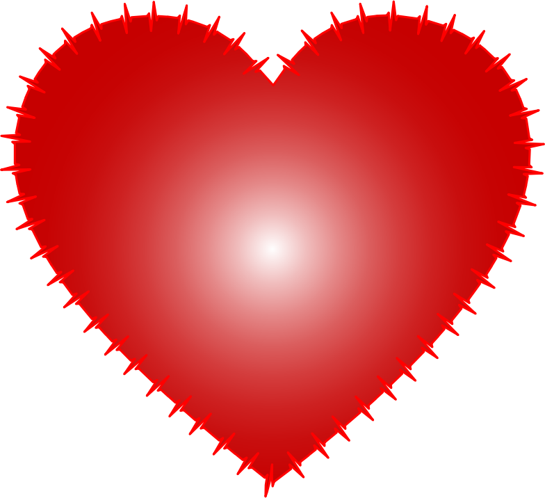Clipart Heart Ekg Rhythm Red