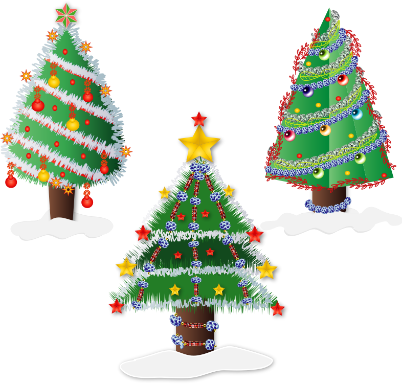 Clipart - CHRISTMAS TREES