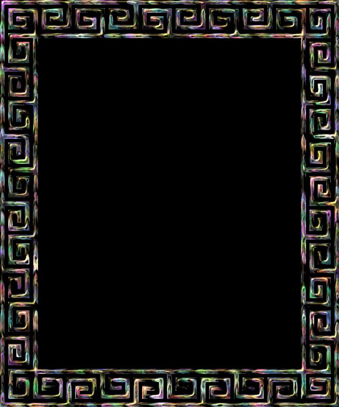 Clipart - Greek key frame 4