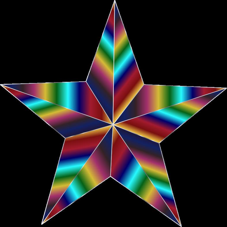 Clipart - Prismatic Star 3