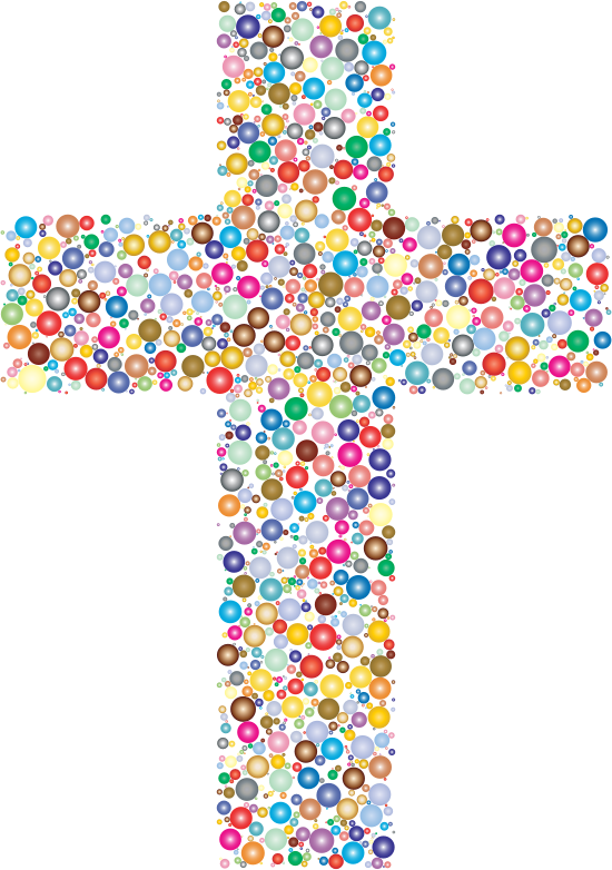 clipart colorful cross circles 2 Catholic Church Art catholic church clipart