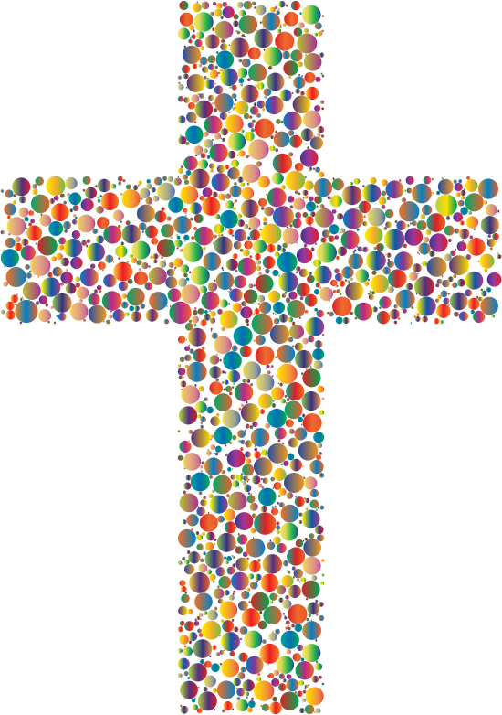 Clipart - Colorful Cross Circles 4