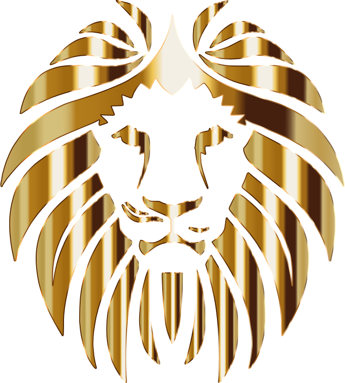 Clipart - Golden Lion 3 No Background