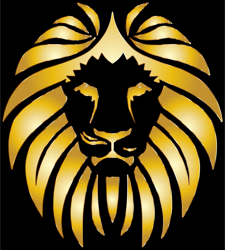 Clipart - Golden Lion 8