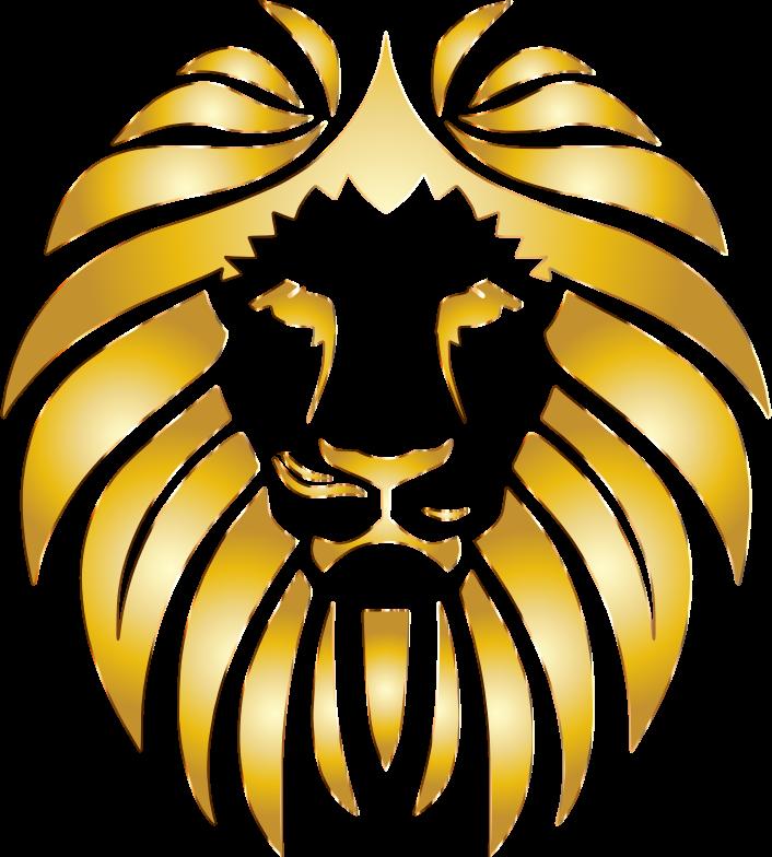 Gold lion logos