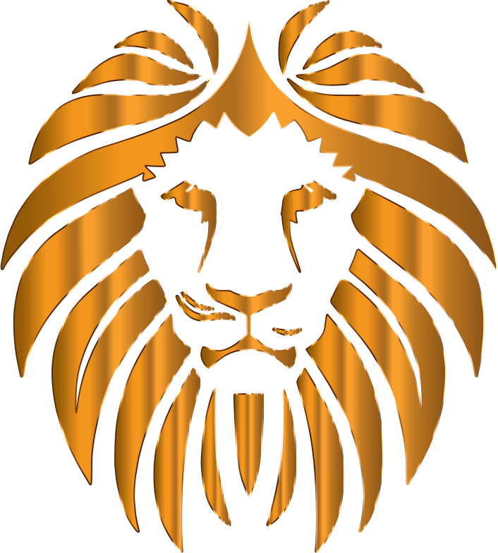 Clipart - Golden Lion 9 No Background