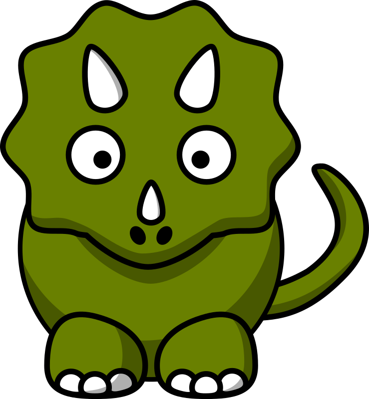 Cartoon triceratops by StudioFibonacci - Cartoon triceratops remixed from  Lemmling's Cartoon Elephant (most of body), Cartoon Cat (tail) and Cartoon Turtle (color).