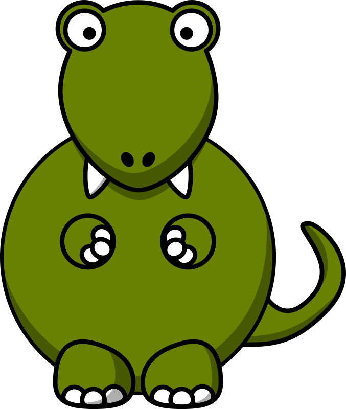 Cartoon tyrannosaurus rex by StudioFibonacci - Cartoon tyrannosaurus rex remixed from Lemmling's Cartoon Elephant (most of body), Cartoon Beaver (hands), and Cartoon Turtle (color).