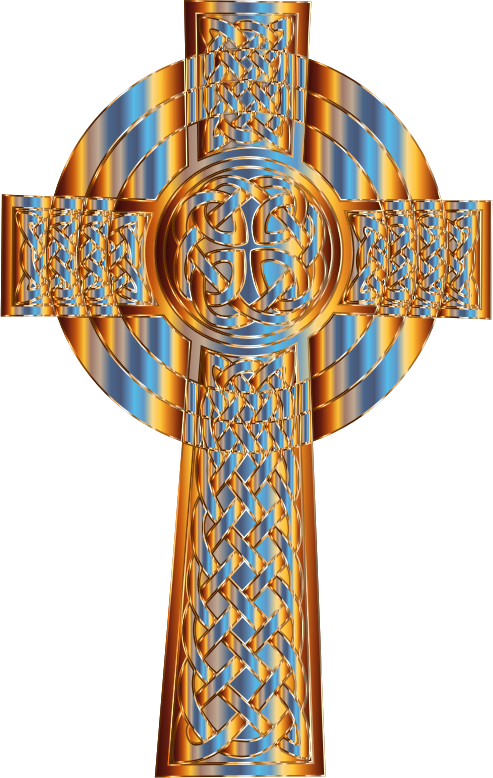 Clipart - Prismatic Celtic Cross 4