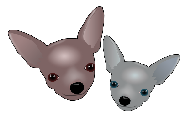 Two Chihuahuas by baroquon - Two Chihuahuas inspired by Chip and Charley the Chihuahuas.