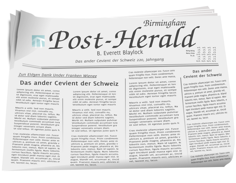 News Paper by baroquon - This is a news paper done in inkscape.