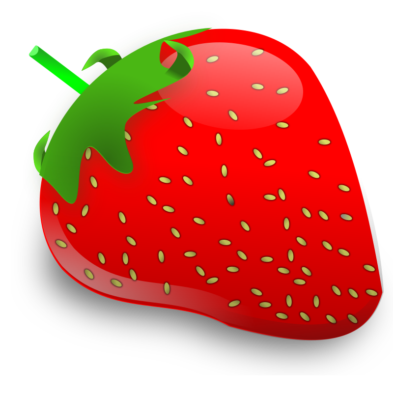 strawberry by baroquon - A strawberry I did in inkscape.