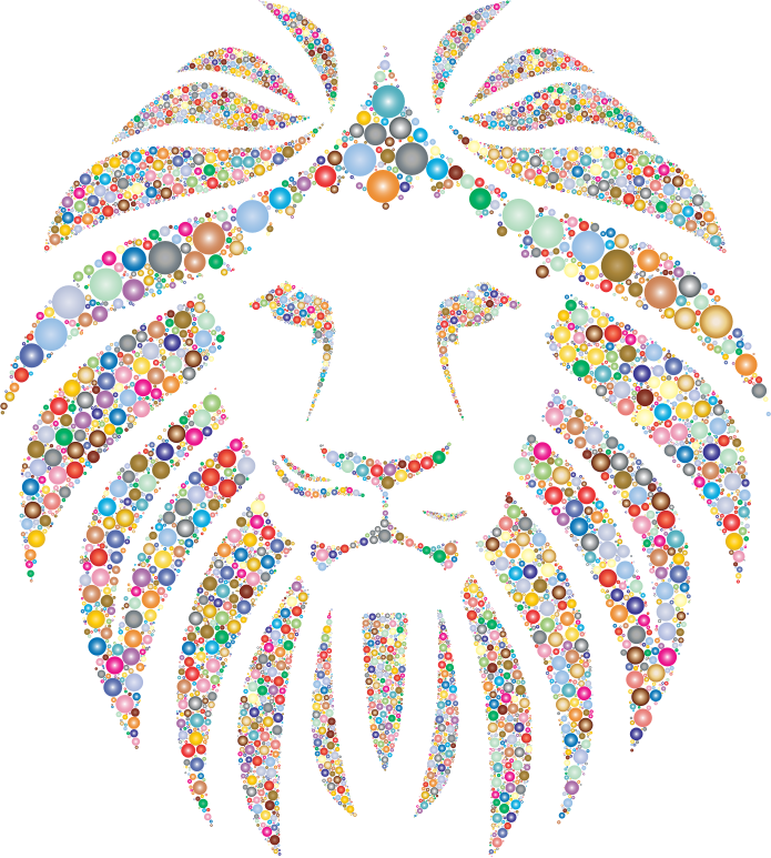 Clipart - Colorful Lion Circles 2 No Background | 695 x 773 png 624kB