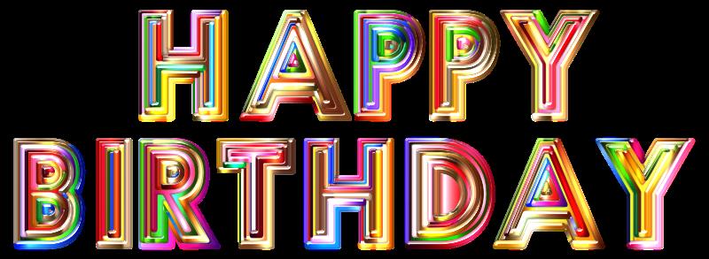 Happy Birthday Typography Png ~ Clipart happy birthday typography